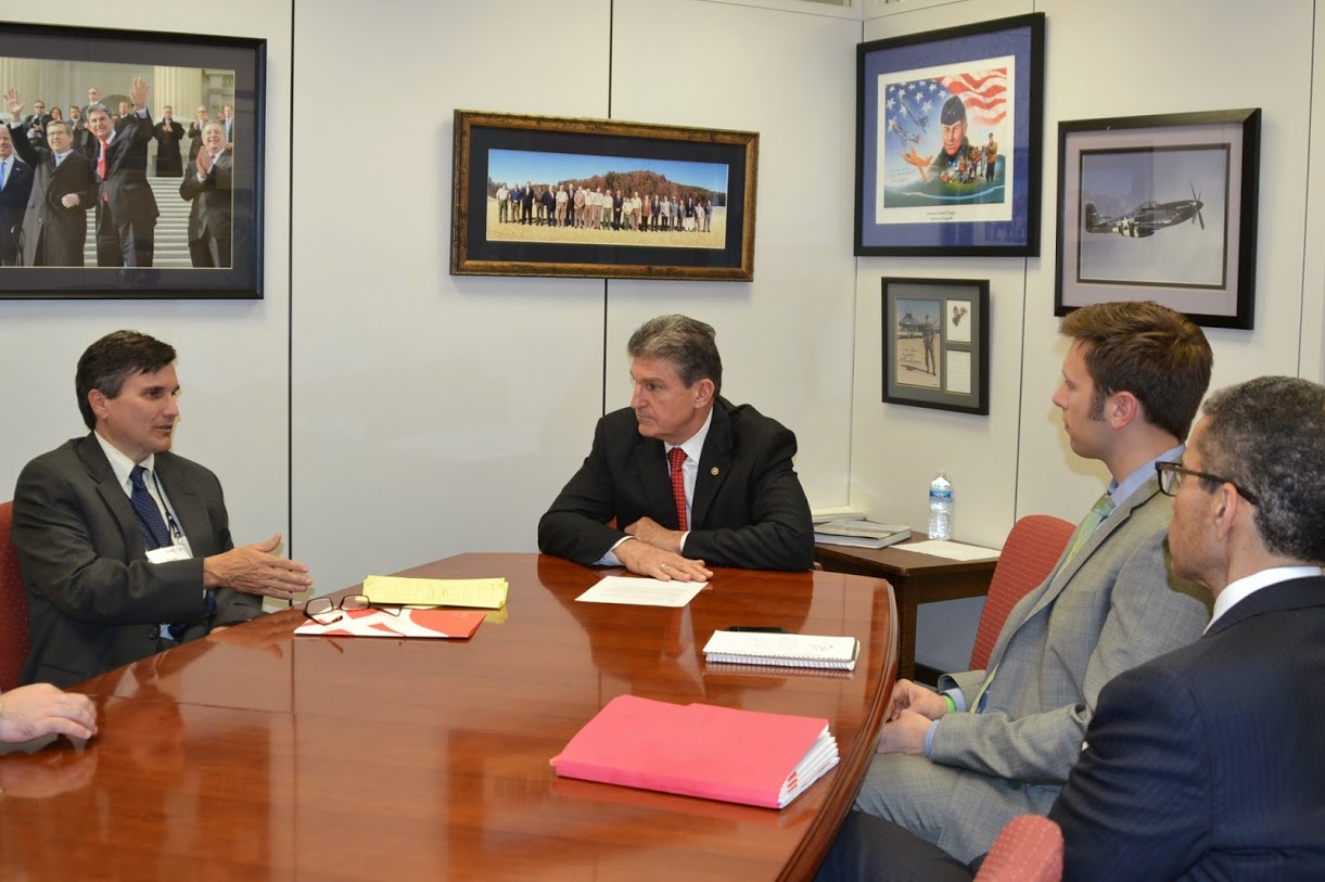 Staff with Sen. Manchin