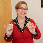 Lisa Salberg holding heart