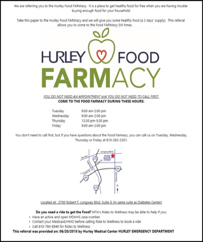 Food FARMacy referral slip