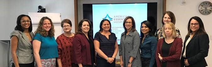 Leslie Safier, second from left, with other members of the 2019 EWLA class.
