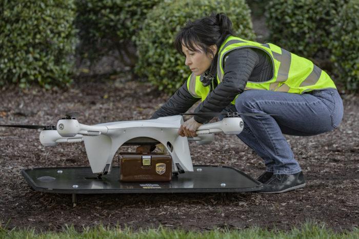 pilot receiving drone
